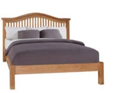 Oscar curved low end bedframe