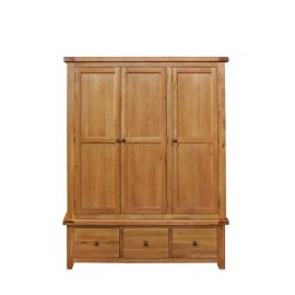 Oscar triple wardrobe with 3 drawers