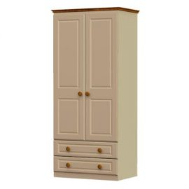 annagh-ivory-2 door x 2 drawer wardrobe