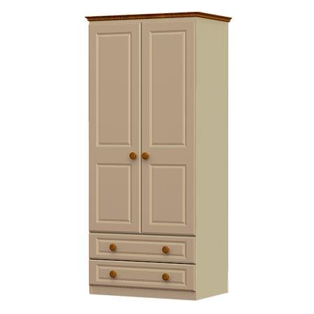 annagh-ivory-2 door x 2 drawer wardrobe