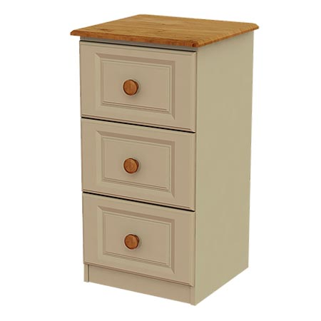 Annagh Ivory 3 Deep Drawer Locker