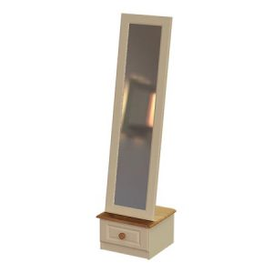 This Cheval Mirror With Drawer is part of theAnnagh Ivory Range.