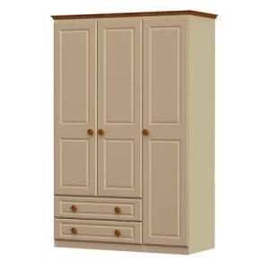 Annagh Ivory 3 Door & 2 Drawer Wardrobe