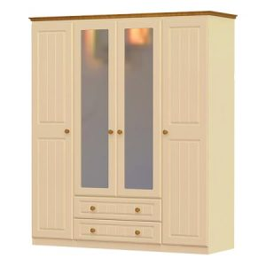 erris 4 door, 2 drawer and 2 mirror wardrobe