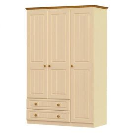 erris triple wardrobe, 2 drawer