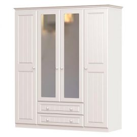 Grennan Wardrobe 4 Door With 2 Drawer & 2 Mirrors