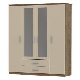 iona 4 door, 2 drawer and 2 mirror wardrobe