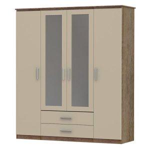 iona 4 door, 2 drawer and 2 mirror wardrobe