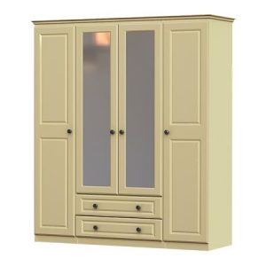 liffey 4 door, 2 drawer and 2 mirror wardrobe