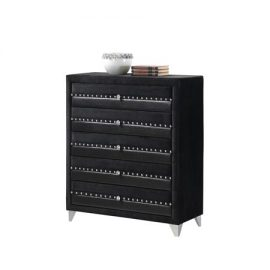 jasmine black 5 drawer chest