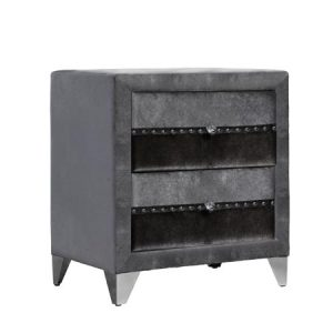jasmine grey 2 drawer locker