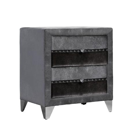 jasmine grey 2 drawer locker