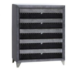 jasmine grey 5 drawer chest