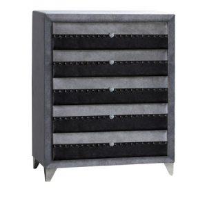 jasmine grey 5 drawer chest
