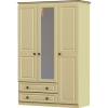liffey 3 door 2 drawer and mirror wardrobe